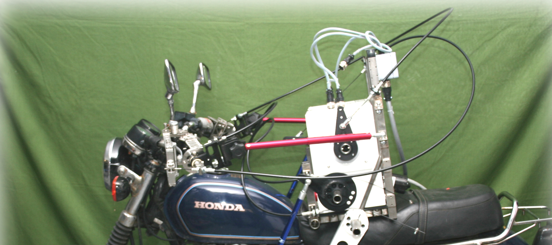Motorcycle With Robot Driver