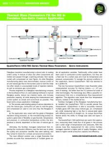 Thermal Flow Meter Solution