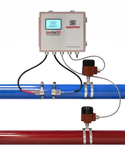 clamp-on ultrasonic liquid flow meter