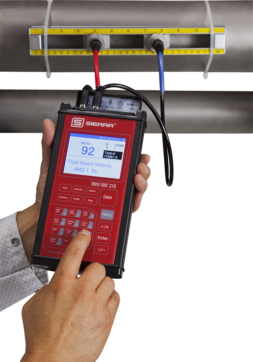 Clamp-On Portable Ultrasonic Flow Meter - InnovaSonic 210