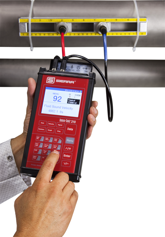 Clamp-On Ultrasonic Portable Flow Meter - InnovaSonic 210