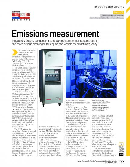 Emissions Measurement Advancement