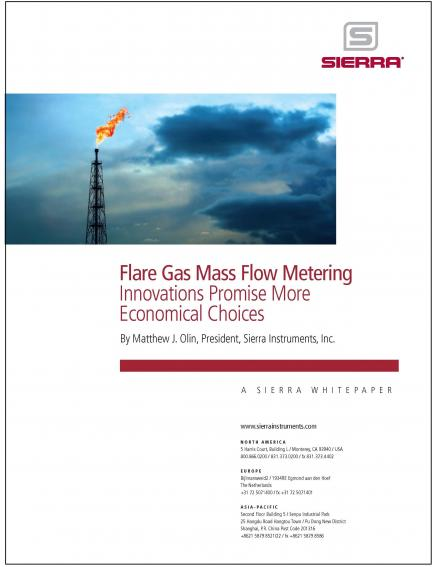 Flare Gas Mass Flow Metering