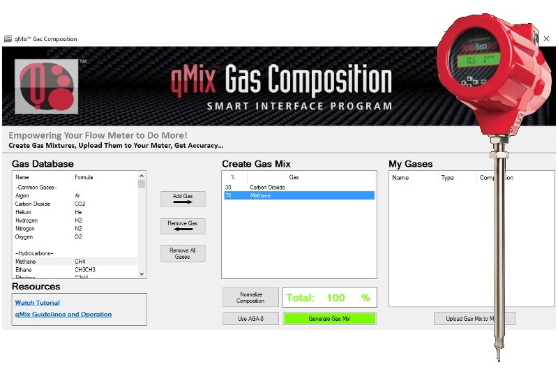 qMix Gas Mixing Feature