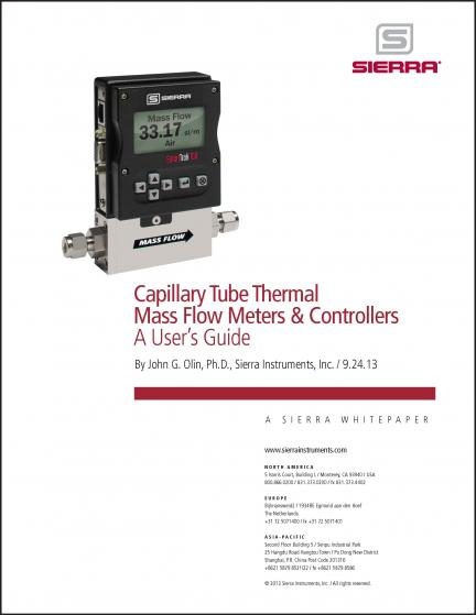 Capillary Tube Thermal Mass Flow Meters & Controllers - A User's Guide