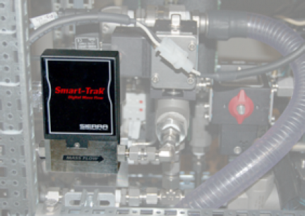 Third Mass Flow Meter shown inside Model BG 3